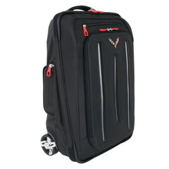 Travel in style with customized luggage featuring the Corvette logo.