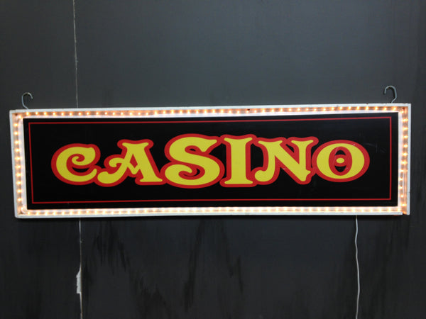 Casino Sign with Light