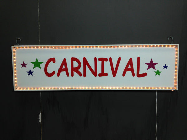 Carnival Sign with Lights