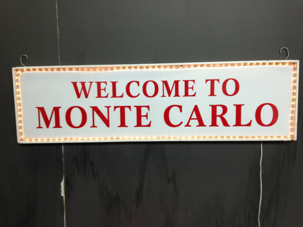 Monte Carlo Sign with Lights
