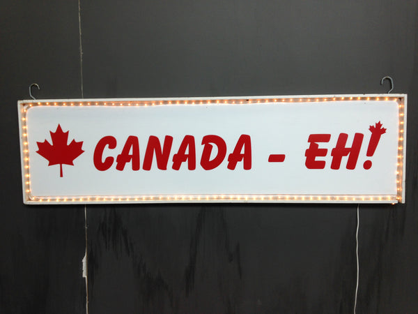 Canada - Eh Sign with Lights