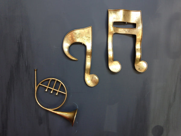 Music Notes Brass Finish