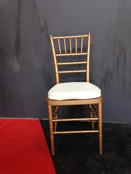 Chivari Stacking Chairs Gold