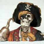 Pirate Skeleton w/Hook Hand