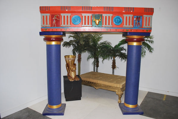Egyptian Pillars w/Arch