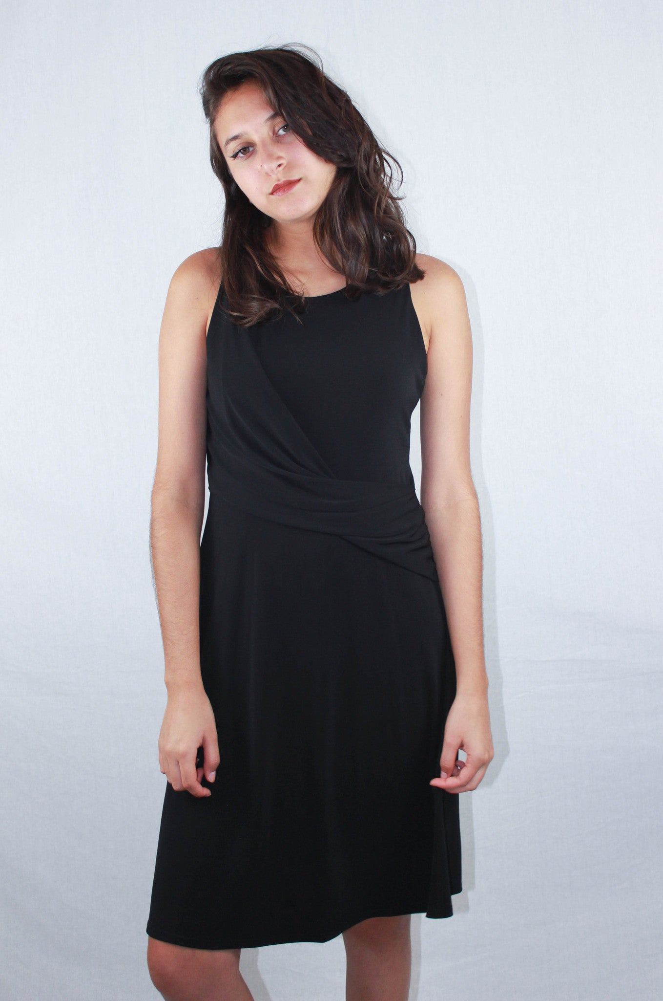Black Drape Dress