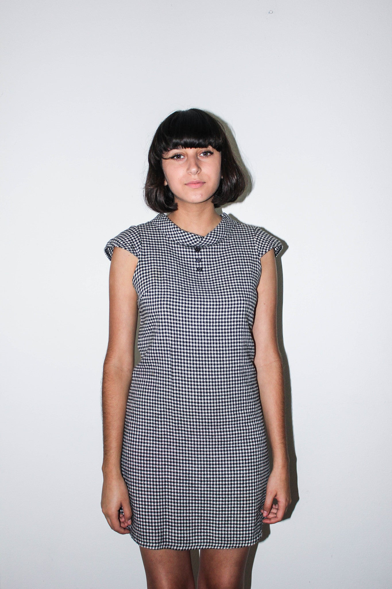 Gingham Cap Sleeve Dress