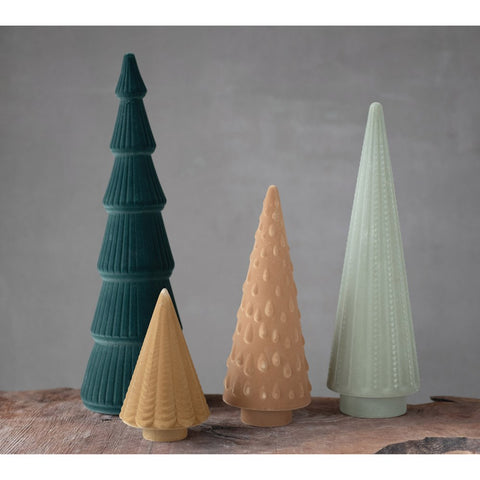 Flocked Trees - Assorted colors
