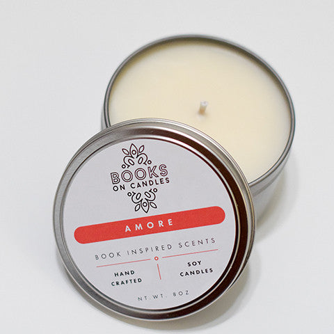 Amore- Bookish Candle inspired by Shakespeare's Romeo and Juliet