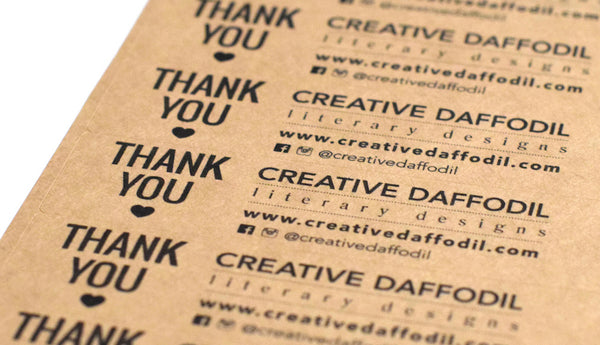 Brown Kraft Thank You Small Business Labels DIY