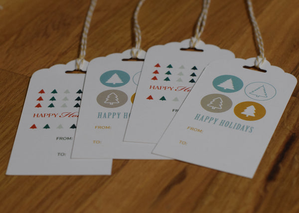 DIY Holiday Hang Tags