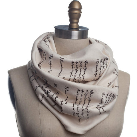 Romeo and Juliet Book scarf by Storiarts