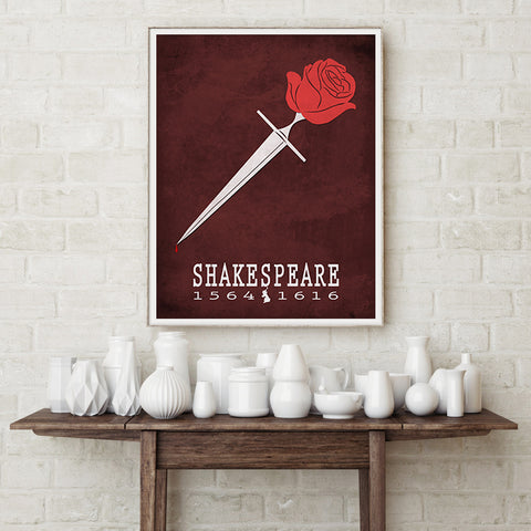 Shakespeare Romeo and Juliet Literary Poster
