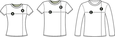 Literary T-shirt Sizing Chart