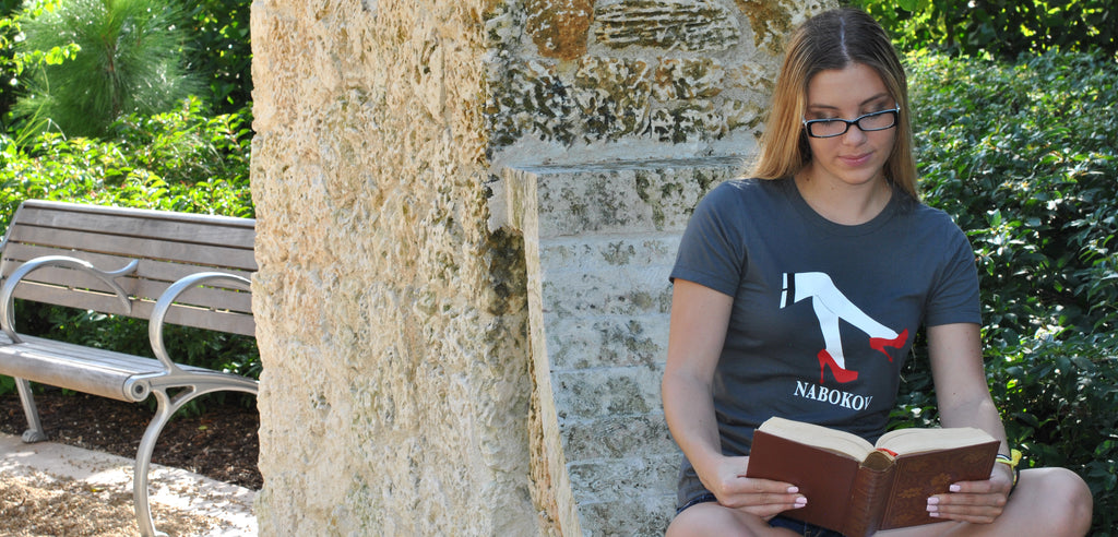 Women Reading Wearing Nabokov Lolita Literary T-shirt