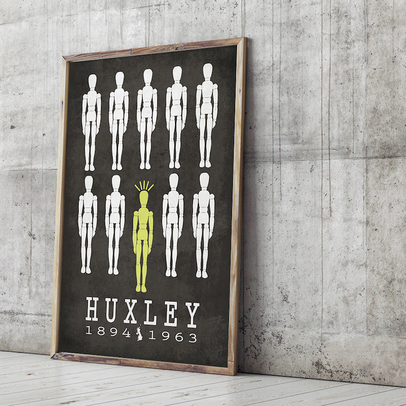 Aldous Huxley Brave New World Literary Print