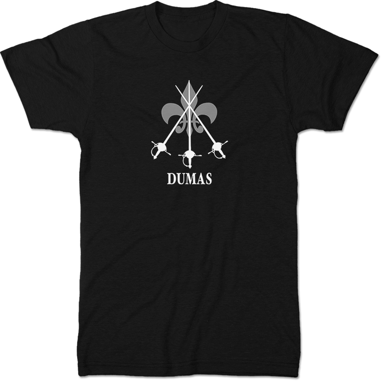 Alexandre Dumas: Three Musketeers Literary T-shirt Men