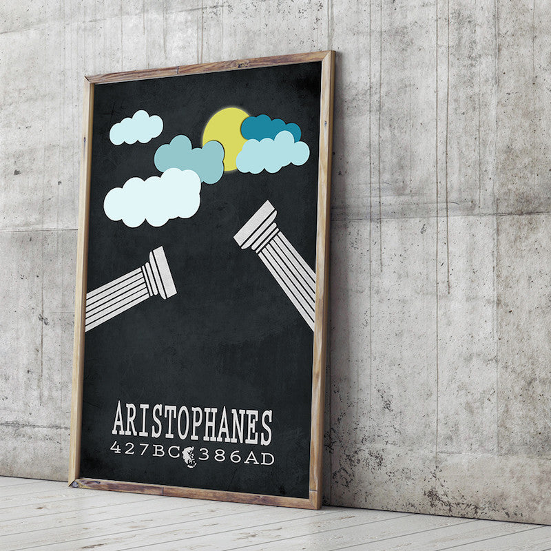 Aristophanes The Clouds Literary Print