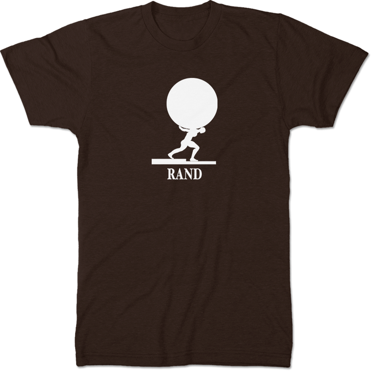 Ayn Rand: Atlas Shrugged Literary T-shirt Men