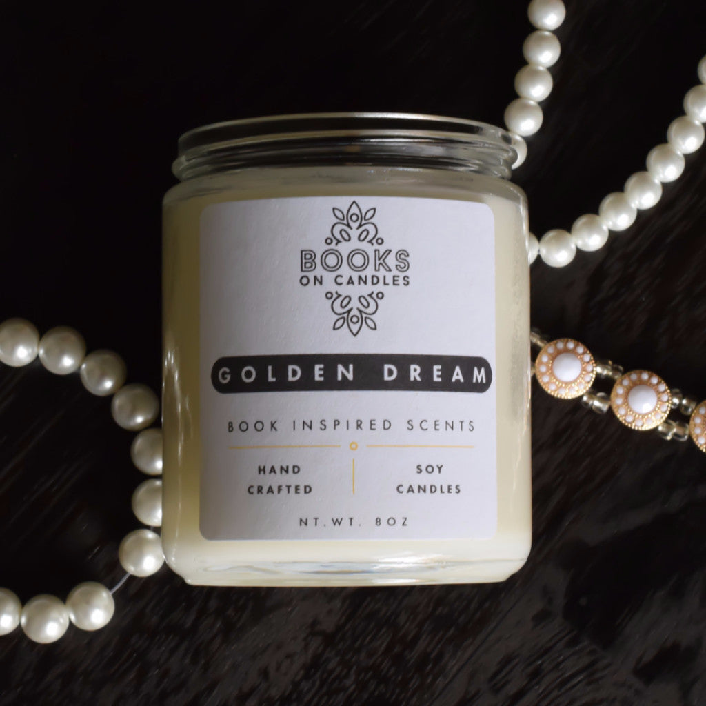 Gold Dream - Hand Crafted Soy Candle Inspired by the Great Gatsby - Front