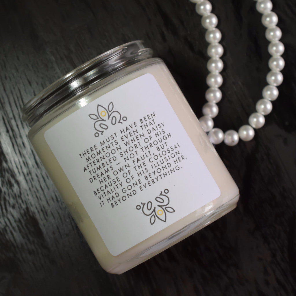 Gold Dream - Hand Crafted Soy Candle Inspired by the Great Gatsby - Back