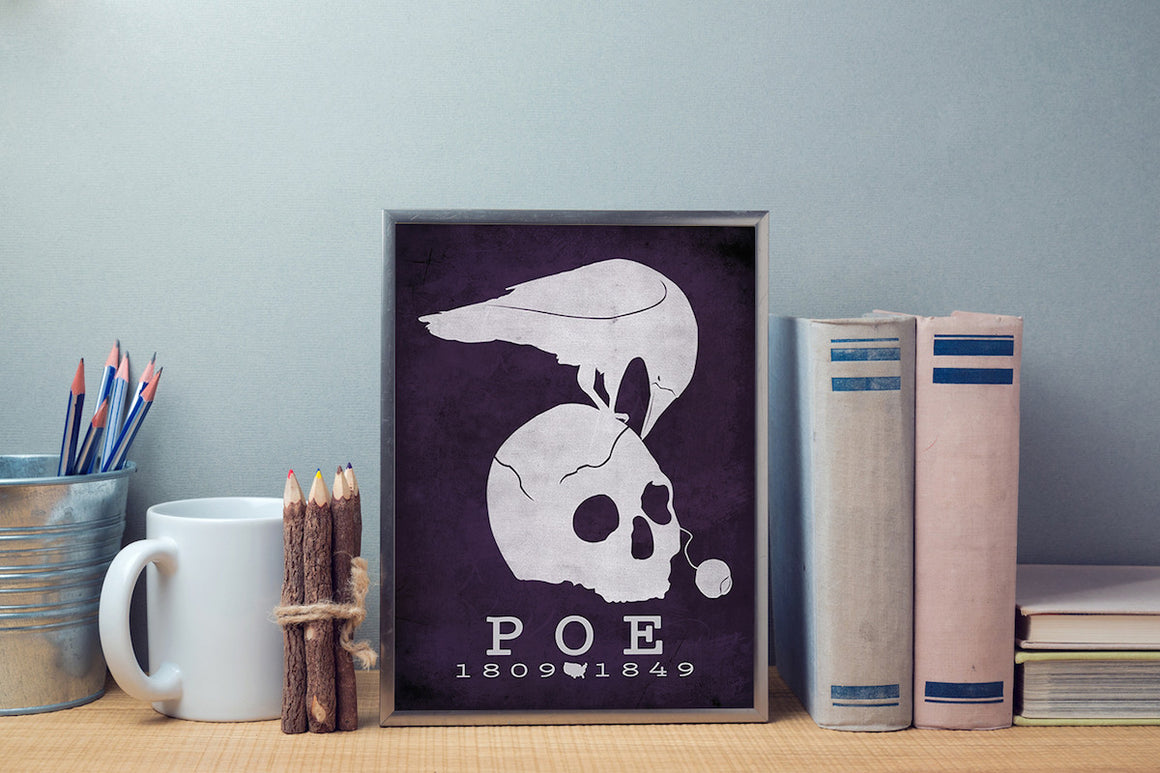 Edgar Allan Poe The Raven Literary Print