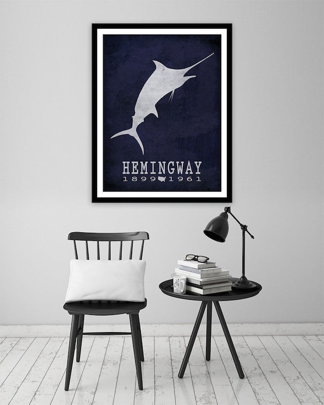 Ernest Hemingway The Old Man And The Sea Literary Print