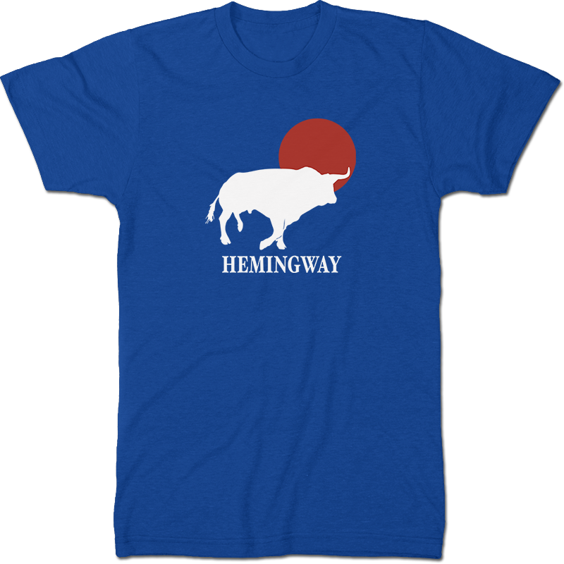 Ernest Hemingway: The Sun Also Rises Literary T-shirt Men