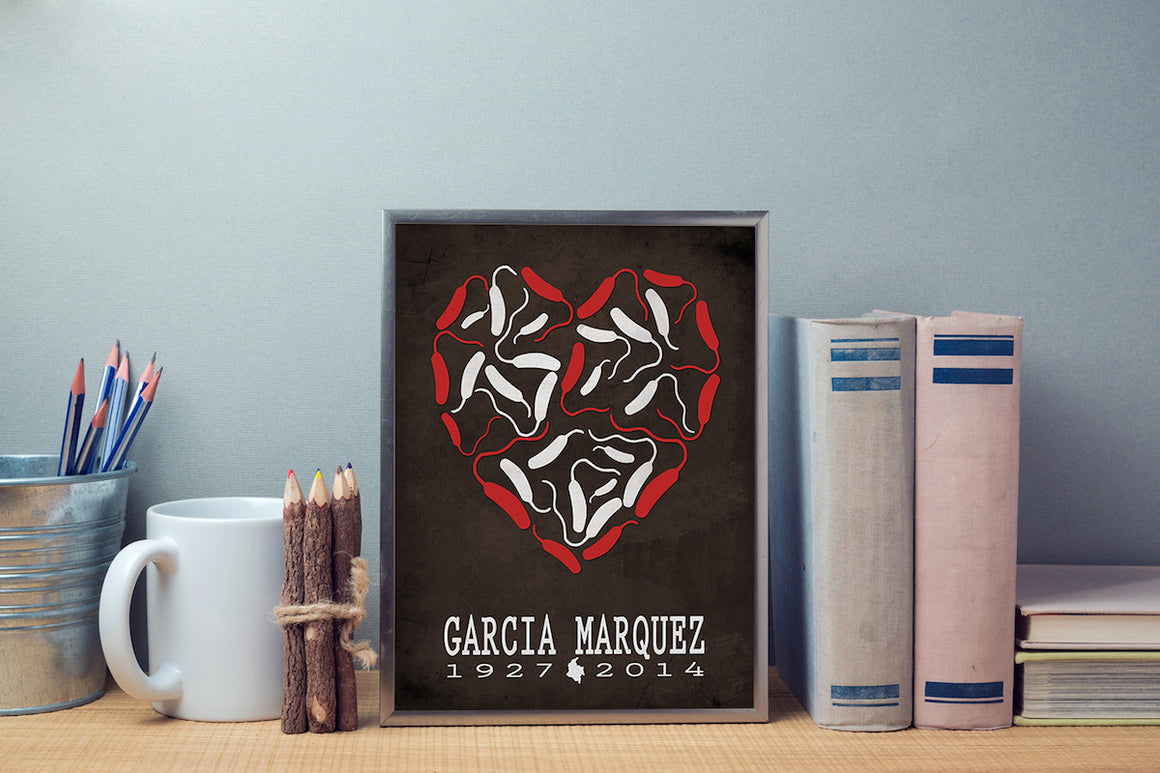 Gabriel Garcia Marquez Love In Times Of Cholera Literary Print