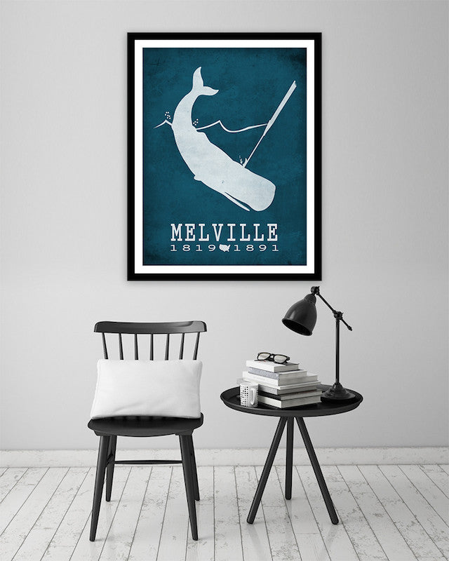 Herman Melville Moby Dick Literary Print
