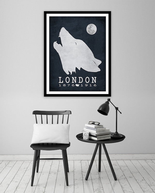 Jack London Call Of The Wild Literary Print