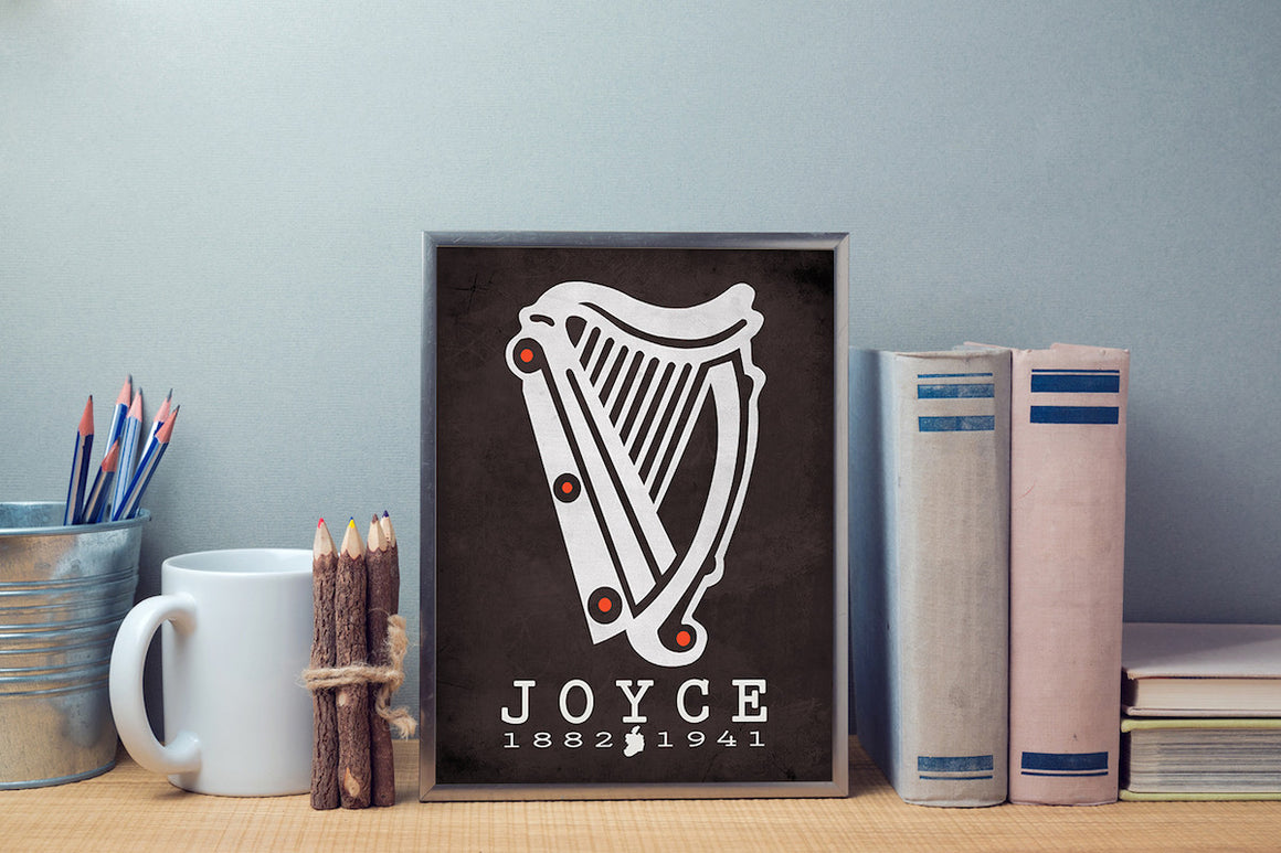 James Joyce Ulysses Literary Print