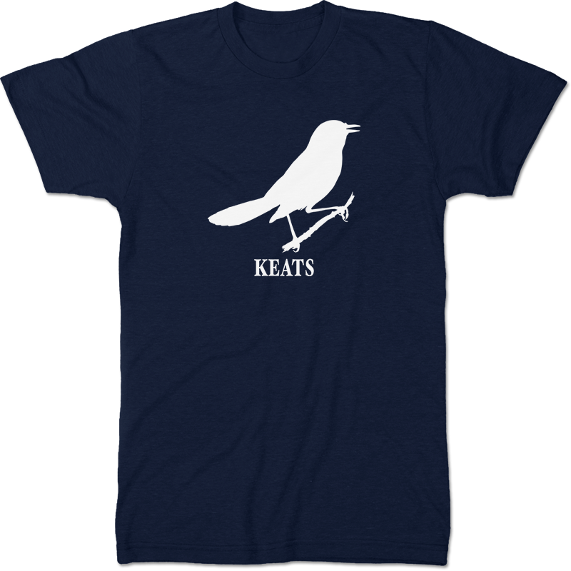 John Keats: Ode To A Nightingale Literary T-shirt Men