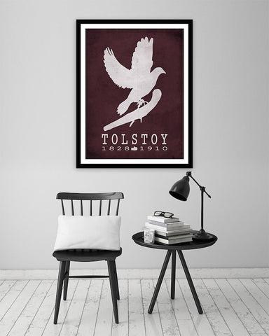 Leo Tolstoy: war and Peace |  Literary Poster