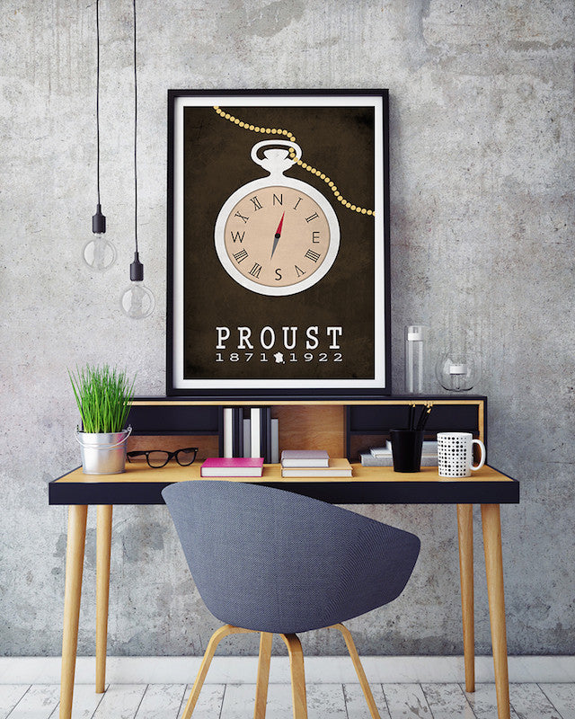 Marcel Proust In Search Of Lost Time Literary Print