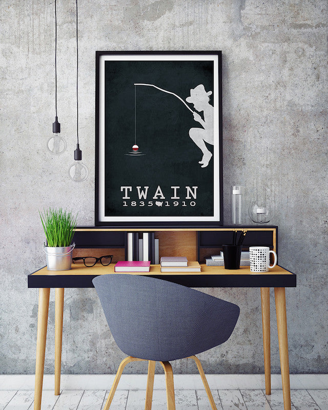 Mark Twain Huckleberry Finn Literary Print