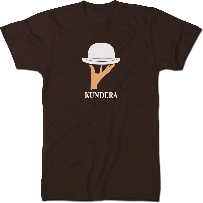 Milan Kundera: The Unbearable Lightness Of Being Literary T-shirt Men