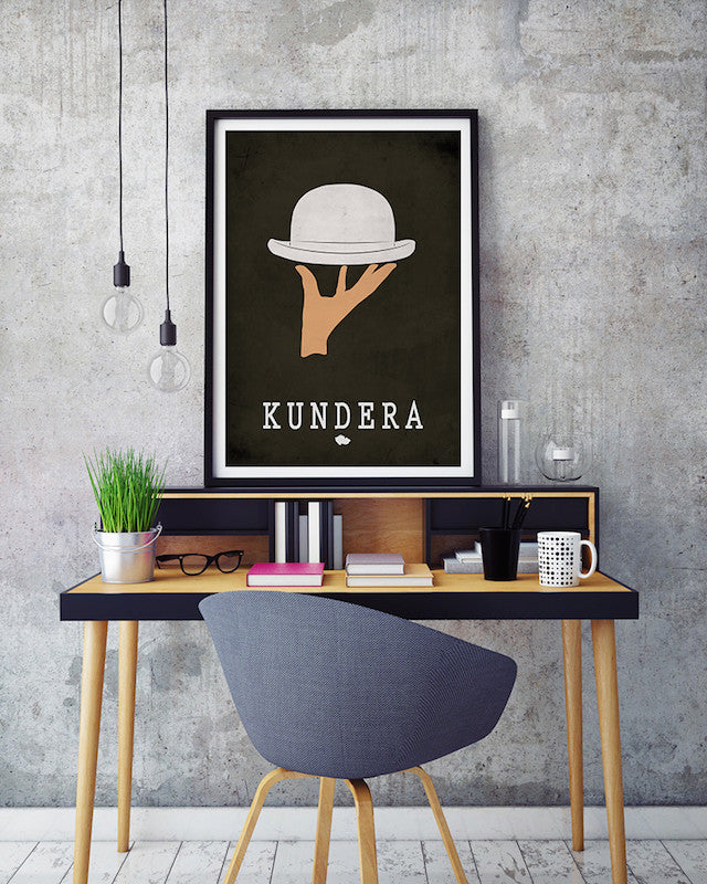 Milan Kundera The Unbearable Lightness Of Being Literary Print