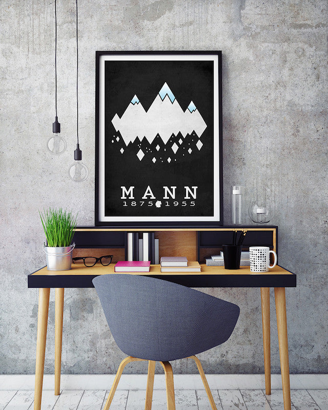 Thomas Mann Magic Mountain Literary Print