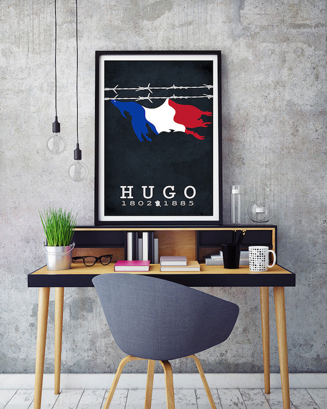 Victor Hugo Les Miserables Literary Print