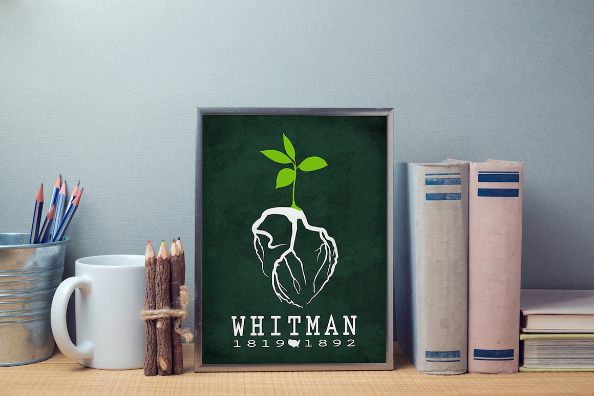 Walt Whitman Leaves Of Grass Literary Print