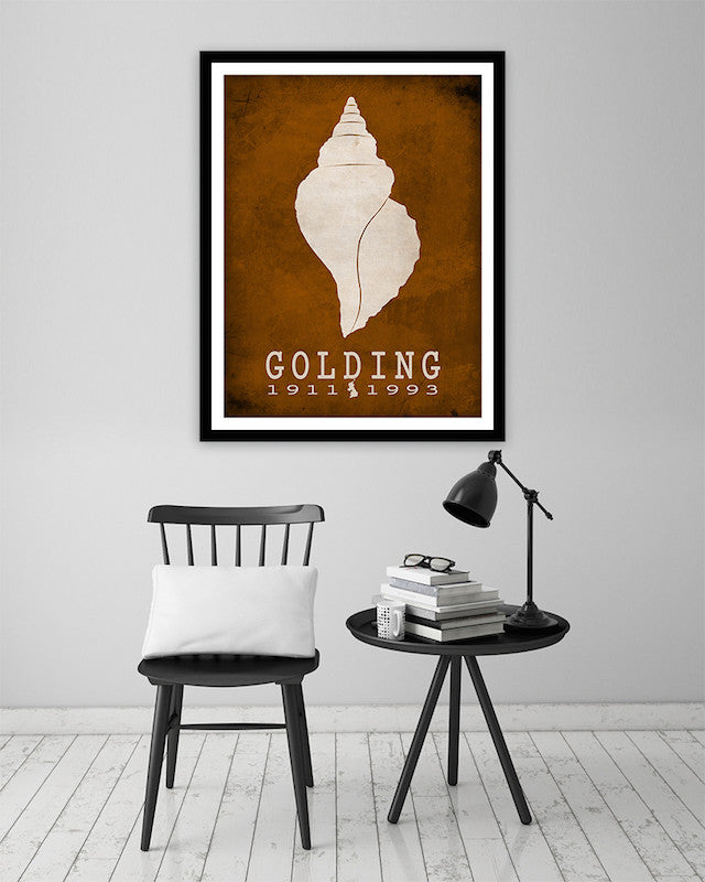 William Golding Lord Of The Flies Literary Print