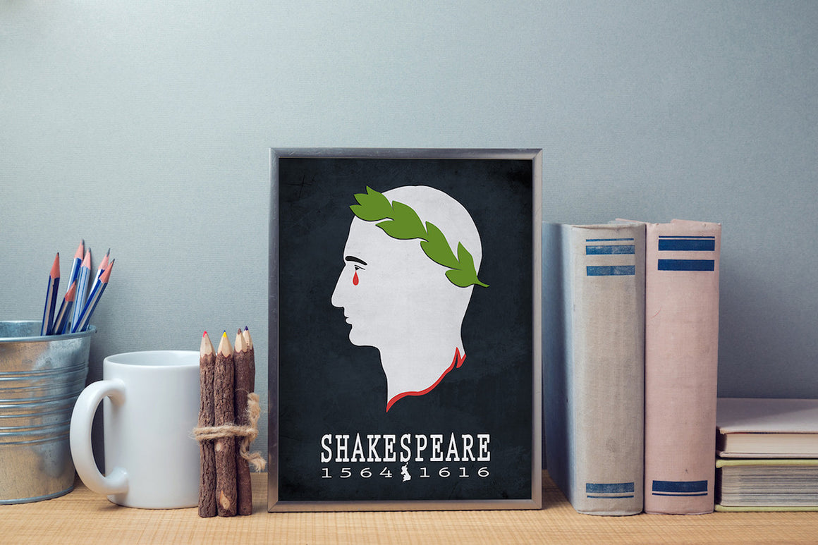 William Shakespeare Julius Cesar Literary Print