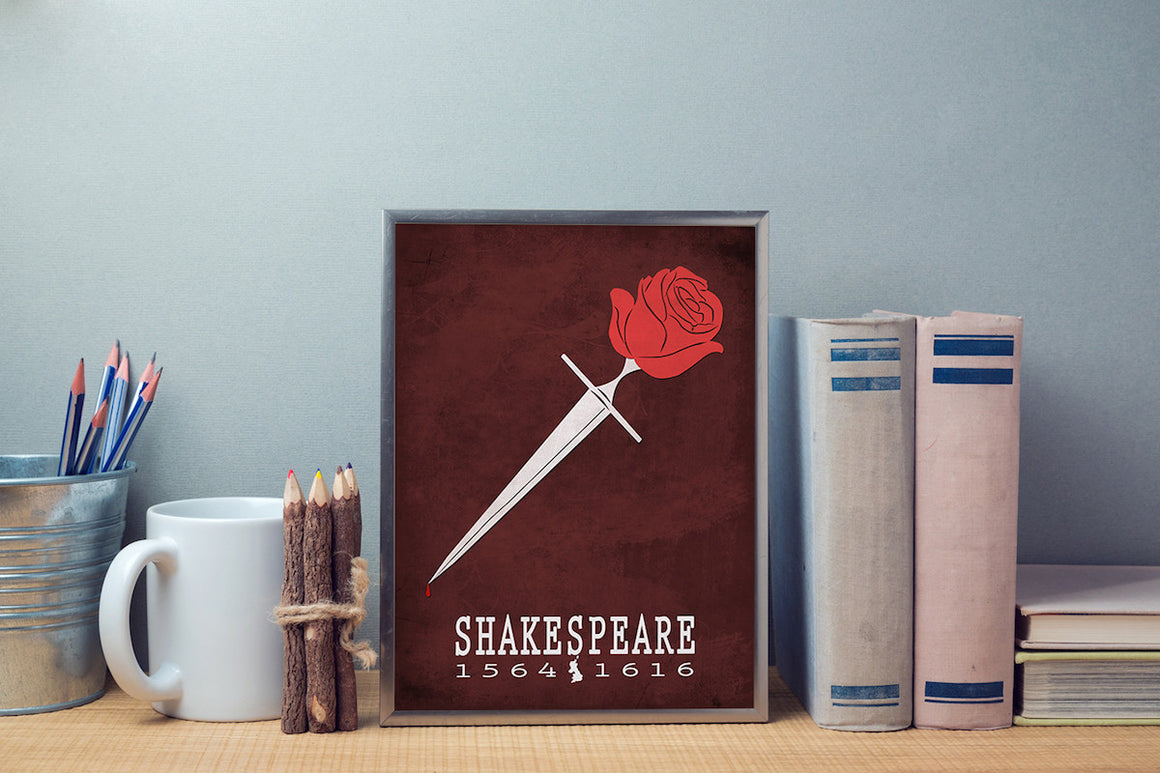 William Shakespeare Romeo And Juliet Literary Print