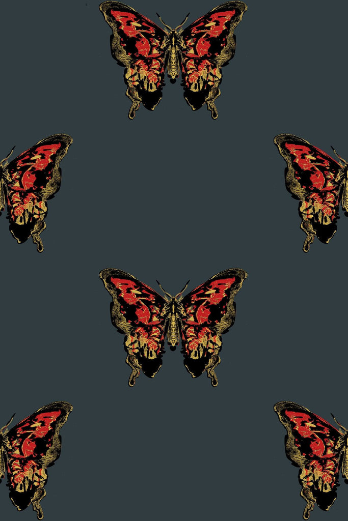 Butterfly Hand Printed