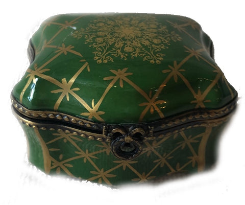 Green Limoges Box