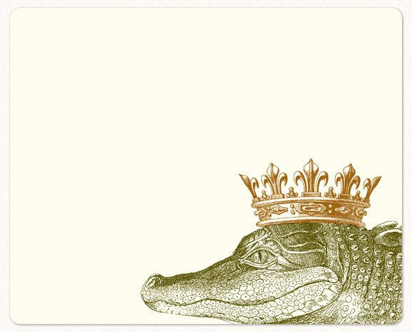King Gator Mousepad Notepad