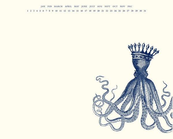 King Octopus Mousepad Notepad