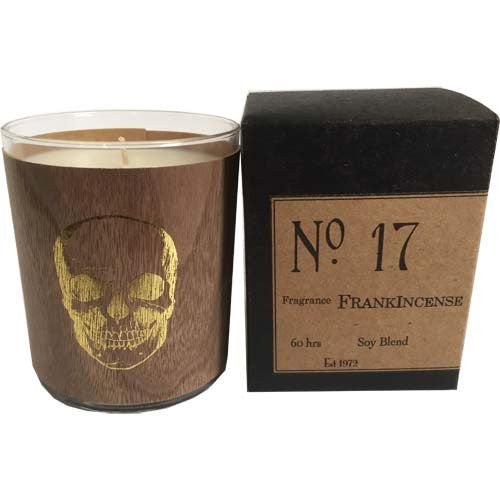 Frankincense Candle (No 17) - Gold Skull