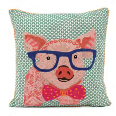 Embroidered Wilbur Pillow